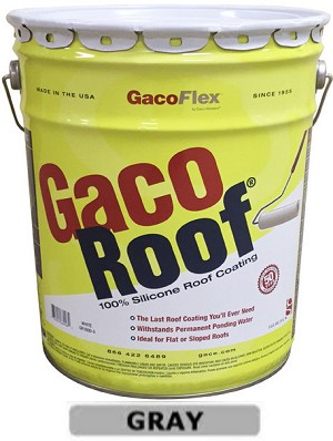 1 - Five Gallon Pail - Gaco Roof Silicone Roof Ctg - 2-Gray - (Puerto Rico including Vieques & Culebra)